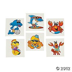 72 ct Sea Creature Temporary Tattoos [Health and Beauty]