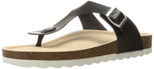 Skechers Women's Crunchy Nature Flip Flop, Black, 7 M US