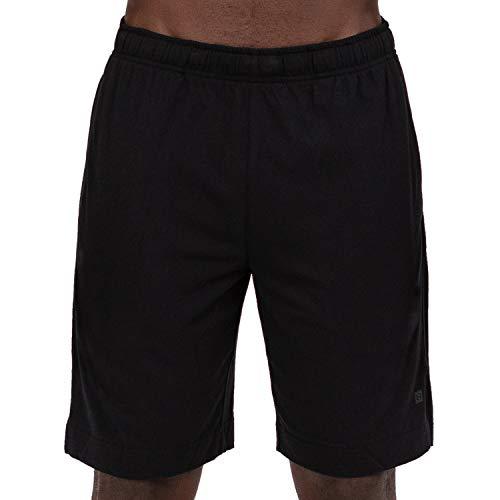 Layer 8 Men's Knit Short Quickdry Stretch Athletic Casual Short (Medium, Rich Black)