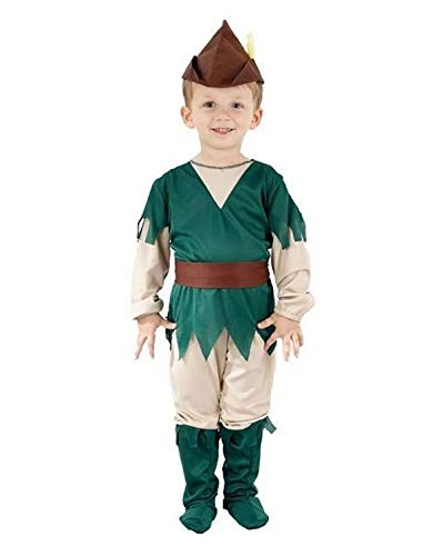 Children Stylish Robin Hood Toddler Peter Pan Fancy Costume Boys Girls Dress Outfit 3-4 Years ()