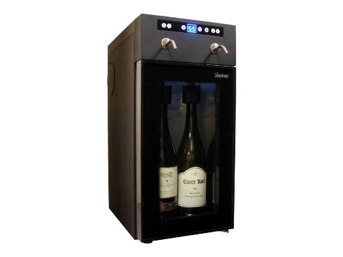 (Vinotemp VT-WINEDISP2 2 Bottle Wine Dispenser, Black)