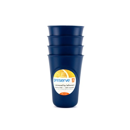 2 Packs of Preserve Everyday Cups - Midnight Blue - Case Of 8 - 4 Packs