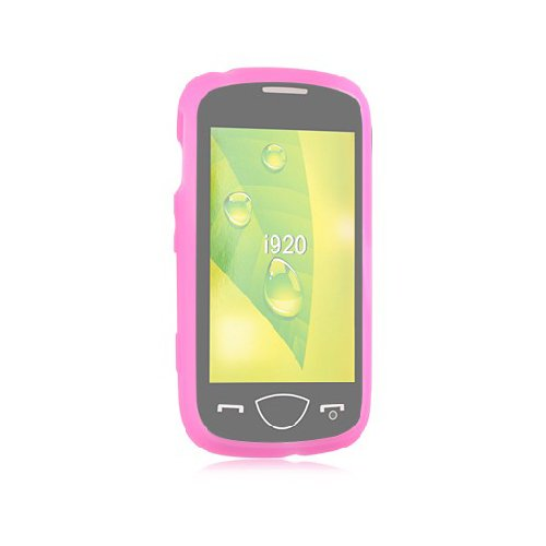 Hot Pink Soft Silicone Gel Skin Cover Case for Samsung Omnia II 2 - Case Silicone Omnia