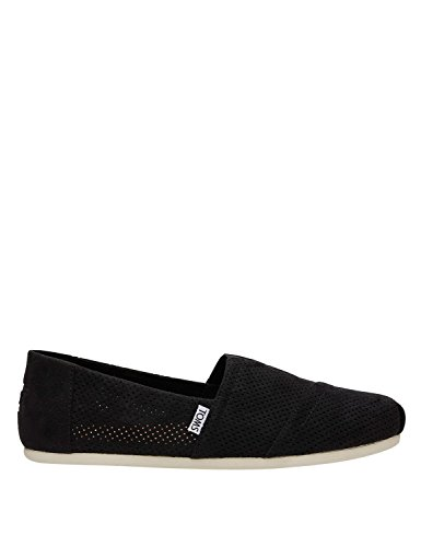 Black Synthetic Suede Footwear (TOMS Men's Seasonal Classics Black Perforated Synthetic Suede 13 D US D (M))