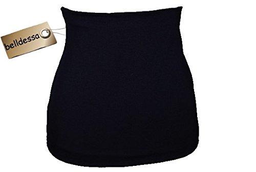 3 in 1: Jersey - Nierenwärmer / Shirt Verlängerer / modisches Accessoire - Farbe: blau dunkelblau Frau XS belldessa