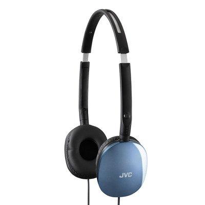 Blue JVC Flats Lightweight Headband Headphones ( 100 PACK ) BY NETCNA