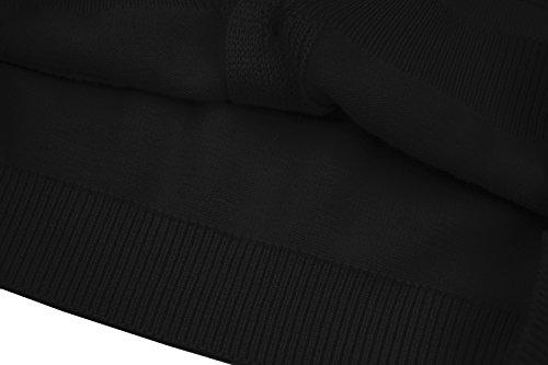 RJXDLT Girls Cardigan Knit Sweaters Long Sleeve Button Cotton Sweater 9-10Y Black by RJXDLT (Image #7)