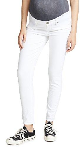 - PAIGE Women's Maternity Skyline Ankle Peg Jean,Optic White,30
