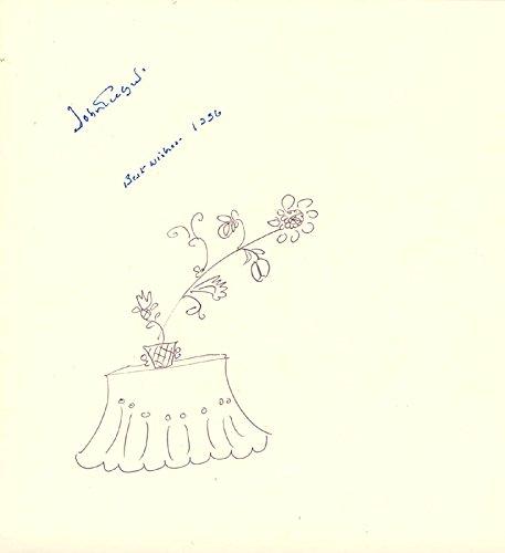 Sir John Gielgud – Original Art Signed 1996