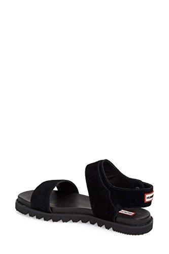 Hunter Womens Original Leather Sandal Open Toe Casual Sport Sandals Black PkT20u