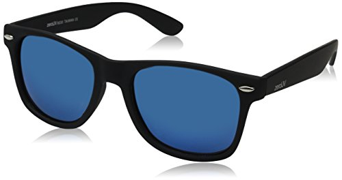 zeroUV ZV-8030d Polarized Horn Rimmed Sunglasses, Blue, 54 mm