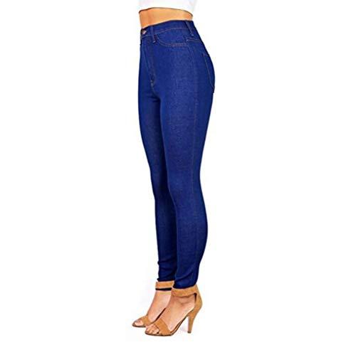 Jeans Blu Da Elasticizzati Skinny Rraspiranti Donna Huateng dqPYxfId