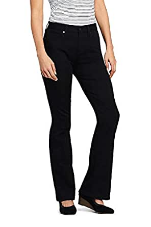 Amazon.com: Lands' End Women's Petite Mid Rise Curvy ...