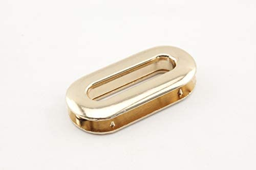 合金 亜鉛合金製 ネジ式 楕円形 ハトメ アイレット 鳩目 座金付き 穴径25mm 8個入り ゴールド G58