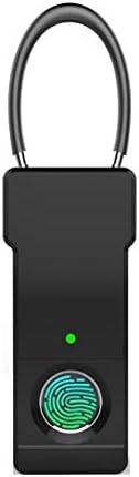 指紋南京錠小さなロック荷物小さなスーツケーストロリーバッグ荷物バックパック学生寮キャビネット防水20指紋 (Color : White)