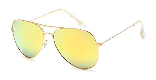cercle Mercure soleil inspirées Jaune du style en rond polarisées vintage métallique retro lunettes de Lennon qCnTgg