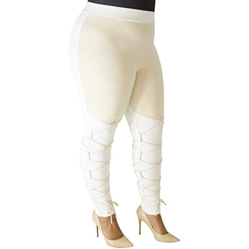 77ad6dab0 high-quality Poetic Justice Plus Size Curvy Fit Women's Champagne Stretch  Suede Legging