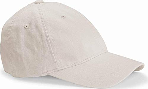 Flexfit/Yupoong Men's Low-Profile Unstructured Fitted Dad Cap, Stone, S/M ()