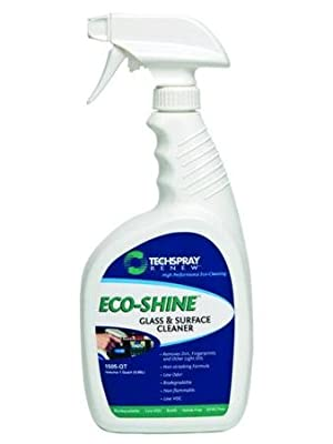 Eco-Shine Glass Cleaner - One Quart Spray Bottle With Headphones