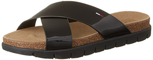 Tommy Hilfiger S1385lide Sandal 2z, Sandalias con Cuña para Mujer Negro (Black 990)