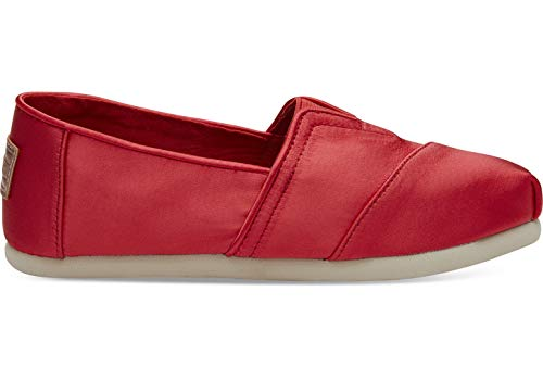 TOMS Kids Girl's Alpargata (Little Kid/Big Kid) Lava Satin 13.5 M US Little Kid