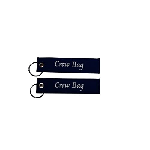 Crew Bag Tag, Embroidered Bag Tag Set of Two