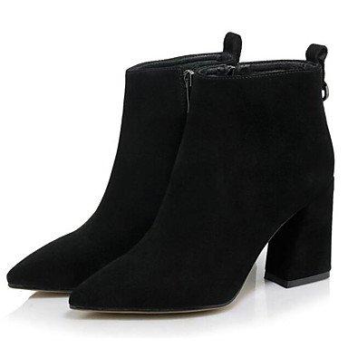 negro combate de caqui 5 for mujer otoño EU37 7 moda invierno casual CN37 RTRY botas botines botas de UK4 botas 5 Botines Zapatos US6 5 polar TPFx6vaw