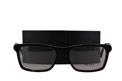 0f5b0d59d65 Prada PR06RV Eyeglasses 53-18-145 Matte Havana HAQ1O1 VPR06R (FRAME+CASE  ONLY)  Amazon.co.uk  Clothing
