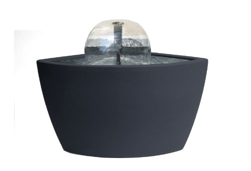 Algreen Hampton Contemporary Slate Patio and Deck Pond Water Feature Kit with Light, 35-Gallon