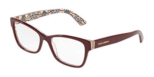 (Eyeglasses Dolce & Gabbana DG 3274 3179 BORDEAUX ON NEW MAIOLICA)