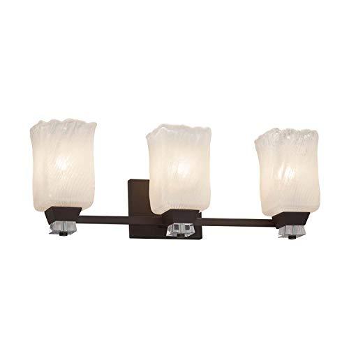 - Justice Design Group Lighting GLA-8473-26-WHTW-DBRZ-LED3-2100 Bath Bar 8.5