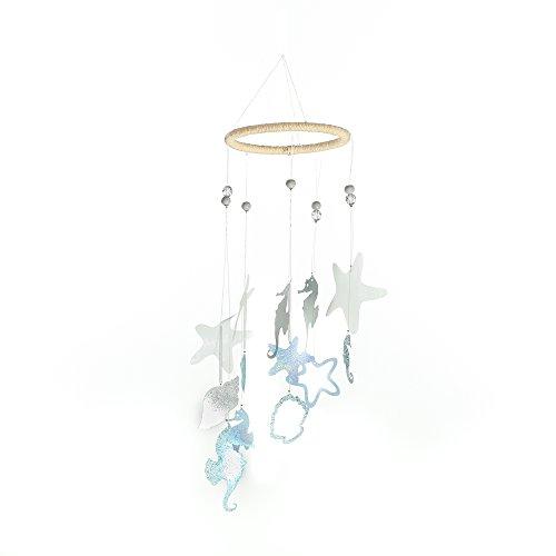 Roser Life Mobiles Handmade Hanging Mobile Blue White Seahorse Starfish Shell Decor (Pack of 1)