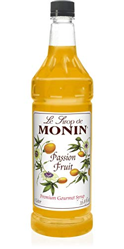 Monin Passion Fruit Syrup, 33.8-Ounce Plastic Bottle (1 liter)