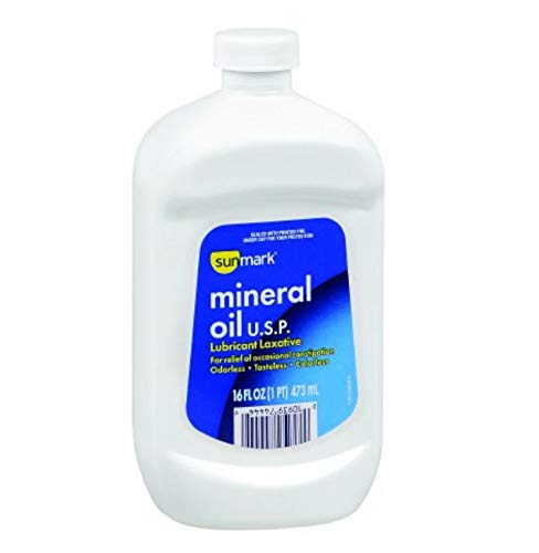 mineral oil in a while bottle