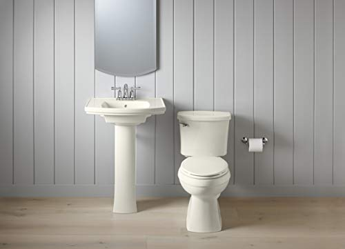 KOHLER K-4774-96 Brevia Elongated Toilet Seat with Quick-Release Hinges and Quick-Attach Hardware for Easy Clean in Biscuit by Kohler (Image #4)