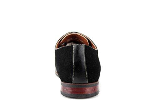 Ferro Aldo Men's 19506L Cap Toe Balmoral Oxfords Dress Shoes, Black, 9