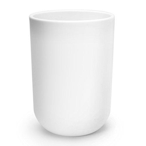 Uviviu Tumbler Cup,tooth-brushing Cup 12oz(350ml) (White) (Handle Mug No White)