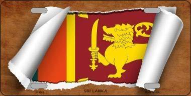 With Sticky Notes Bargain World Sri Lanka Flag Metal Novelty License Plate