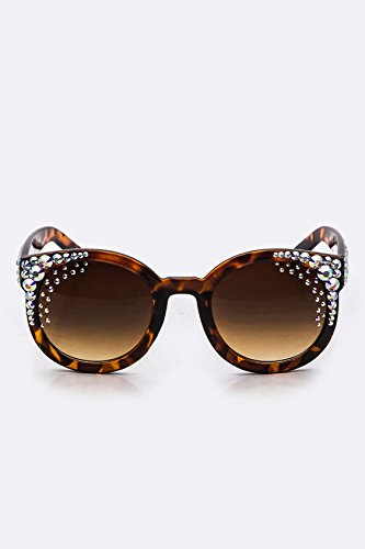 Karmas Canvas Crystal Ornate Oval Sunglasses - Sunglasses Wholesale York New