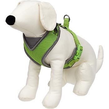 petco-adjustable-mesh-harness-for-dogs-in-green-gray-large-for-chests-235-30-for-necks-14-16