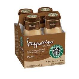 STARBUCKS FRAPPUCCINO COFFEE MOCHA 4 PK 95 OZ BOTTLES