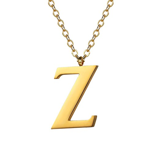 - PROSTEEL Initial Letter Z Necklace,Alphabet Name Jewelry,Men/Women,Personalized Groomsman Bridesmaid Gift,Wedding Minimalist Bridal Party Graduation Gift,Stainless Steel,18K Gold Plated,P2826J