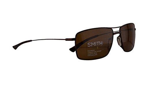 Smith Turner Sunglasses Matte Brown w/ChromaPop Polarized Brown Lens 59mm ()