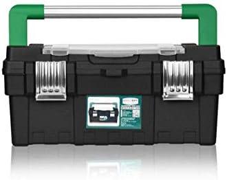 CHUNSHENN ツールボックス 工具箱 適するのホームアウトドア修復ツールストレージボックス、17インチ多機能ブラック、サイズ40 * 19.7 * 18センチ(カラー:ブラック、サイズ:40 * 19.7 * 18センチ)