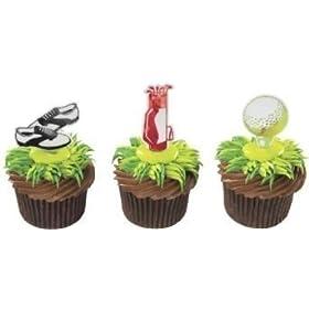 Golf Cupcake Picks – 24 ct