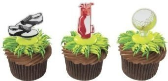 Golf Cupcake Picks - 24 ct