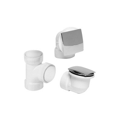 Square Style Bath Drain and Overflow Plumber's Half Kit for ABS Pipe Finish: PVD Brushed Bronze by Mountain Plumbing