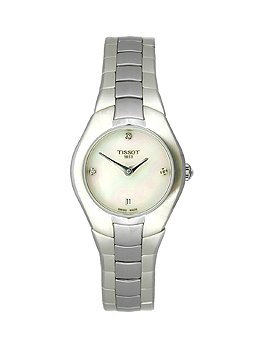 Tissot T0960091111600 T-Round Ladies Watch - White Mother Of Pearl Dial