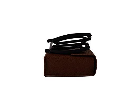 Ray-Ban RB4105 Folding Wayfarer Sunglasses Matte Black w/Purple Mirror Lens 601S1M RB 4105