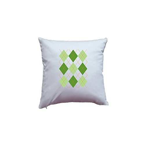 Cute Argyle Green Saint Patrick's Day Pillowcase Print Irish St. Patricks Day March 17 Pillow Cover Hand Printed Home Decor Quality Pillowcase - St Armens Circle